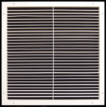 "24""w X 24""h Aluminum Adjustable Return/Supply HVAC Air Grille - Full Control Horizontal Airflow Direction - Vent Duct Cover - Wide Front End Overlap - Single Deflection [Outer Dimensions: 25.85""w X 25.85""h]"