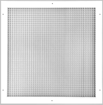 "24"" x 24"" Cube Core Eggcrate Return Air Grille - Aluminum Rust Proof - HVAC Vent Duct Cover - White [Outer Dimensions: 26.5""w X 26.5""h]"