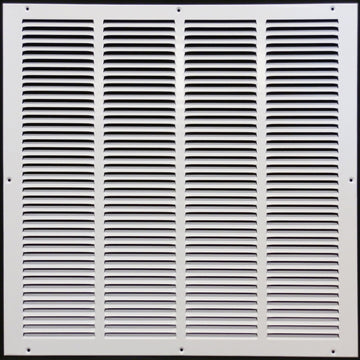 "24""w X 24""h Steel Return Air Grilles - Sidewall and ceiling - HVAC DUCT COVER - White [Outer Dimensions: 25.75""w X 25.75""h]"