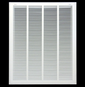 "20"" X 30 Steel Return Air Filter Grille for 1"" Filter - Removable Face/Door - HVAC DUCT COVER - Flat Stamped Face - White [Outer Dimensions: 22.5""w X 32.5""h]"