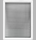 "24"" x 36"" Cube Core Eggcrate Return Air Filter Grille for 1"" Filter - Aluminum - White [Outer Dimensions: 26.5""w X 38.5""h]"