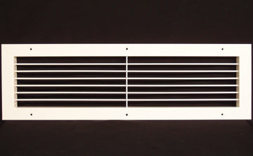 "24""w X 6""h Aluminum Adjustable Return/Supply HVAC Air Grille - Full Control Horizontal Airflow Direction - Vent Duct Cover - Wide Front End Overlap - Single Deflection [Outer Dimensions: 25.85""w X 7.85""h]"