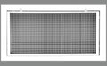 "32"" x 14"" Cube Core Eggcrate Return Air Filter Grille for 1"" Filter - Aluminum - White [Outer Dimensions: 34.5""w X 16.5""h]"