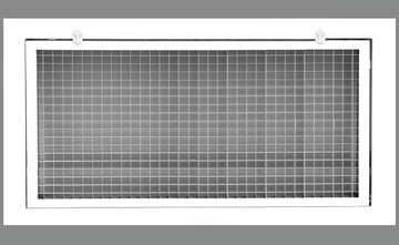 "32"" x 16"" Cube Core Eggcrate Return Air Filter Grille for 1"" Filter - Aluminum - White [Outer Dimensions: 34.5""w X 18.5""h]"