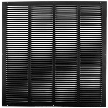 "24""w X 24""h Steel Return Air Grilles - Sidewall and ceiling - HVAC DUCT COVER - Black [Outer Dimensions: 25.75""w X 25.75""h]"
