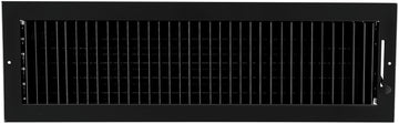 "24""w X 6""h ADJUSTABLE AIR SUPPLY DIFFUSER - HVAC Vent Duct Cover Sidewall or ceiling - Grille Register - High Airflow - Black"