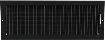 "24""w X 8""h ADJUSTABLE AIR SUPPLY DIFFUSER - HVAC Vent Duct Cover Sidewall or ceiling - Grille Register - High Airflow - Black"