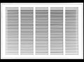 "25"" X 12 Steel Return Air Filter Grille for 1"" Filter - Fixed Hinged - ceiling Recommended - HVAC DUCT COVER - Flat Stamped Face - White [Outer Dimensions: 27.5""w X 14.5""h]"