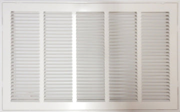 "25"" X 20 Steel Return Air Filter Grille for 1"" Filter - Removable Face/Door - HVAC DUCT COVER - Flat Stamped Face - White [Outer Dimensions: 27.5""w X 22.5""h]"