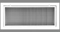"36"" x 16"" Cube Core Eggcrate Return Air Filter Grille for 1"" Filter - Aluminum - White [Outer Dimensions: 38.5""w X 18.5""h]"