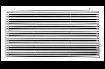 "30"" x 12"" Aluminum Return Filter Grille - Easy Air FLow - Linear Bar Grilles [Outer Dimensions: 32.5""w X 14.5""h]"