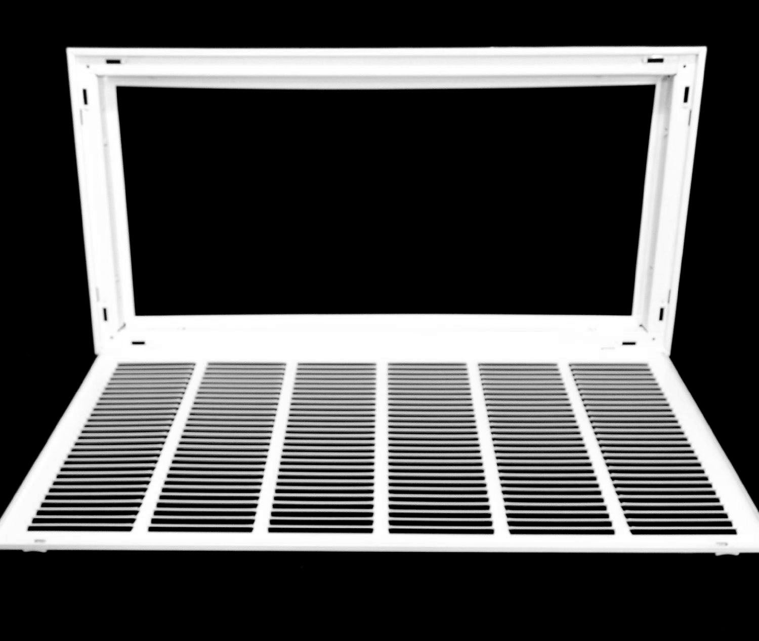 "16/"" x 6 steel return air filter grille for 1/"" filter removable face//door"