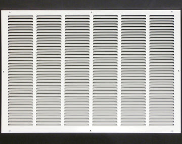 "30""w X 16""h Steel Return Air Grilles - Sidewall and ceiling - HVAC DUCT COVER - White [Outer Dimensions: 31.75""w X 17.75""h]"