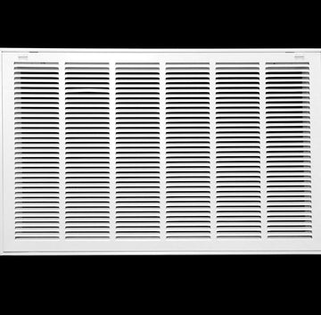 "30"" X 20 Steel Return Air Filter Grille for 1"" Filter - Removable Face/Door - HVAC DUCT COVER - Flat Stamped Face - White [Outer Dimensions: 32.5""w X 22.5""h]"