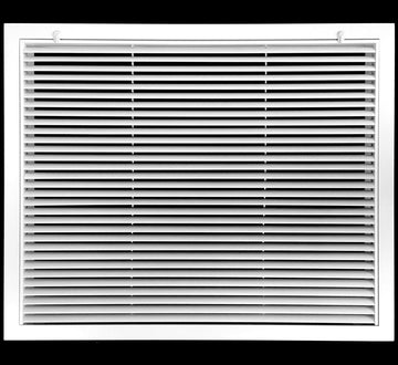 "8"" x 8"" Aluminum Return Filter Grille - Easy Air FLow - Linear Bar Grilles [Outer Dimensions: 10.5""w X 10.5""h]"