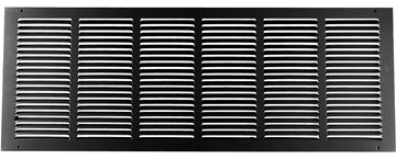 "30""w X 10""h Steel Return Air Grilles - Sidewall and ceiling - HVAC DUCT COVER - Black [Outer Dimensions: 31.75""w X 11.75""h]"