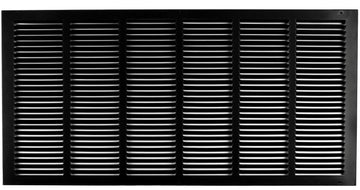"30""w X 14""h Steel Return Air Grilles - Sidewall and ceiling - HVAC DUCT COVER - Black [Outer Dimensions: 31.75""w X 15.75""h]"