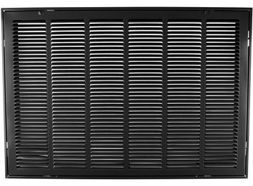 "30"" X 20 Steel Return Air Filter Grille for 1"" Filter - Removable Face/Door - HVAC DUCT COVER - Flat Stamped Face - Black [Outer Dimensions: 32.5""w X 22.5""h]"