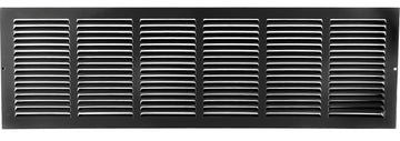 "30""w X 8""h Steel Return Air Grilles - Sidewall and ceiling - HVAC DUCT COVER - Black [Outer Dimensions: 31.75""w X 9.75""h]"