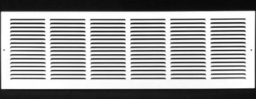 "36""w X 8""h Steel Return Air Grilles - Sidewall and ceiling - HVAC DUCT COVER - White [Outer Dimensions: 37.75""w X 9.75""h]"