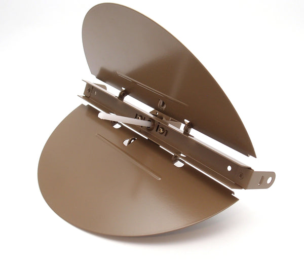 "6"" BUTTERFLY DAMPER - Control Your Airflow on drop ceiling grilles of 24x24 (6"" round duct opening)"
