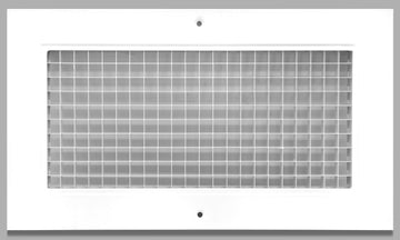 "6"" x 12"" Cube Core Eggcrate Return Air Grille - Aluminum Rust Proof - HVAC Vent Duct Cover - White [Outer Dimensions: 8.5""w X 14.5""h]"