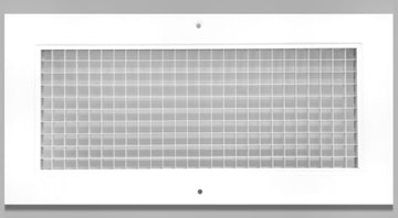 "6"" x 14"" Cube Core Eggcrate Return Air Grille - Aluminum Rust Proof - HVAC Vent Duct Cover - White [Outer Dimensions: 8.5""w X 16.5""h]"