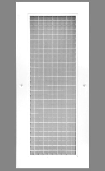 "6"" x 16"" Cube Core Eggcrate Return Air Grille - Aluminum Rust Proof - HVAC Vent Duct Cover - White [Outer Dimensions: 8.5""w X 18.5""h]"