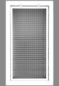 "6"" x 18"" Cube Core Eggcrate Return Air Filter Grille for 1"" Filter - Aluminum - White [Outer Dimensions: 8.5""w X 20.5""h]"