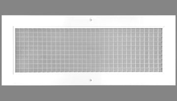 "6"" x 18"" Cube Core Eggcrate Return Air Grille - Aluminum Rust Proof - HVAC Vent Duct Cover - White [Outer Dimensions: 8.5""w X 20.5""h]"