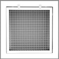 "6"" x 6"" Cube Core Eggcrate Return Air Filter Grille for 1"" Filter - Aluminum - White [Outer Dimensions: 8.5""w X 8.5""h]"