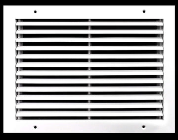 "14"" x 8"" Fixed Bar Return Grille - All Steel Structure - Elegant Look & Sturdy Finish [Outer Dimensions: 15.75""w X 9.75""h]"