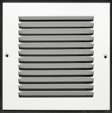 "8""w X 8""h Steel Return Air Grilles - Sidewall and ceiling - HVAC DUCT COVER - White [Outer Dimensions: 9.75""w X 9.75""h]"