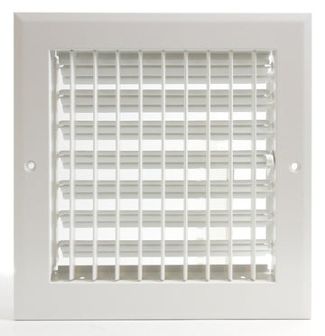 "8""w x 8""h ADJUSTABLE AIR SUPPLY DIFFUSER - HVAC Vent Duct Cover Sidewall or ceiling - Grille Register - High Airflow - Black"