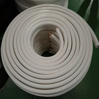 "7/8"" Insulated Copper Coil Line - Seamless Pipe Tube for HVAC, Refrigerant - 1/2"" White Insulation - 35' Long"