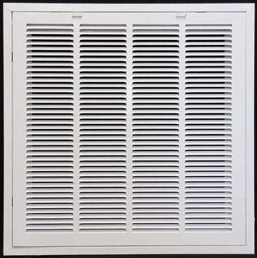 "24"" x 24"" RETURN FILTER GRILLE for Drop Ceiling - Uses 20"" x 20"" Filter - Easy Access Door & Latch To Filter"