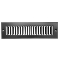 "12"" X 4"" Toe Space Grille - HVAC Vent Cover [Outer Dimensions: 13.5 X 5.5] - Black"
