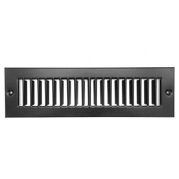 "12"" X 6"" Toe Space Grille - HVAC Vent Cover [Outer Dimensions: 13.5 X 7.5] - Black"