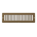 "14"" X 2"" Toe Space Grille - HVAC Vent Cover [Outer Dimensions: 15.5 X 3.5] - Brown"
