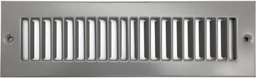 "10"" x 2 Toe Space Grille - HVAC Vent Cover [Outer Dimensions: 11.5 X 3.5] - Gray"