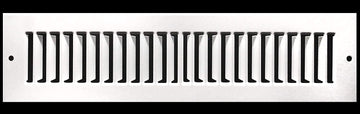 "12"" X 4"" Toe Space Grille - HVAC Vent Cover [Outer Dimensions: 13.5 X 5.5] - White"