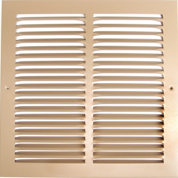 "14""w X 8""h Steel Return Air Grilles - Sidewall and ceiling - HVAC DUCT COVER - Brown [Outer Dimensions: 15.75""w X 9.75""h]"