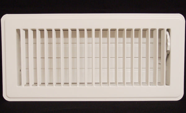 "2"" X 14"" Floor Register with Louvered Design - Fixed Blades Return Supply Air Grill - with Damper & Lever - Brown"