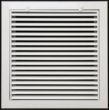 "16"" x 16"" Aluminum Return Filter Grille - Easy Air FLow - Linear Bar Grilles [Outer Dimensions: 18.5""w X 18.5""h]"