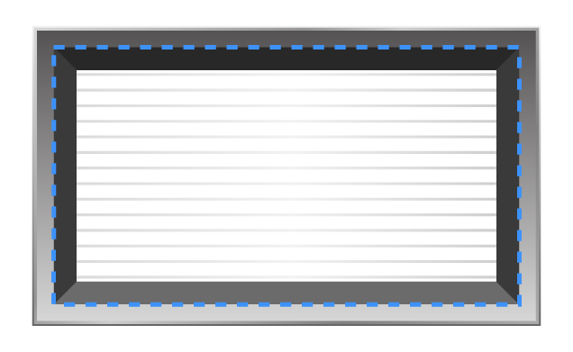 Inner dimensions of the back of a vent