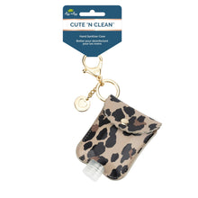 Load image into Gallery viewer, NEW Leopard Cute 'n Clean™ Hand Sanitizer Charm Keychain