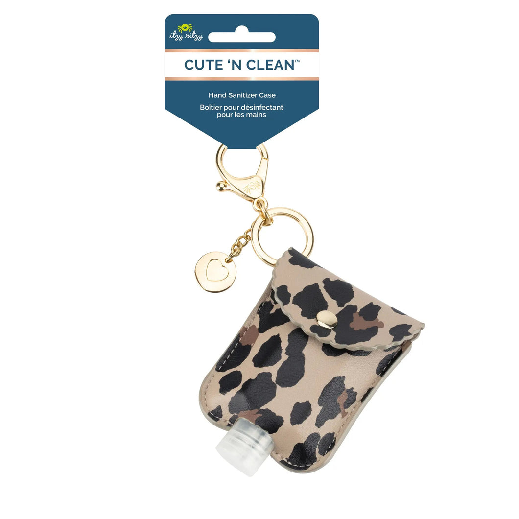 NEW Leopard Cute 'n Clean™ Hand Sanitizer Charm Keychain