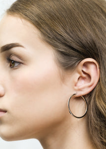 Flat Edge Hoop Earrings - ALEXA ROSE