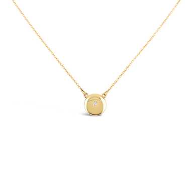Dome Diamond Pendant Necklace