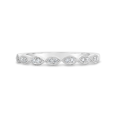 18k Scalloped Diamond Band - ALEXA ROSE